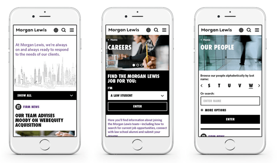 law firm Morgan Lewis going digital with mobile application