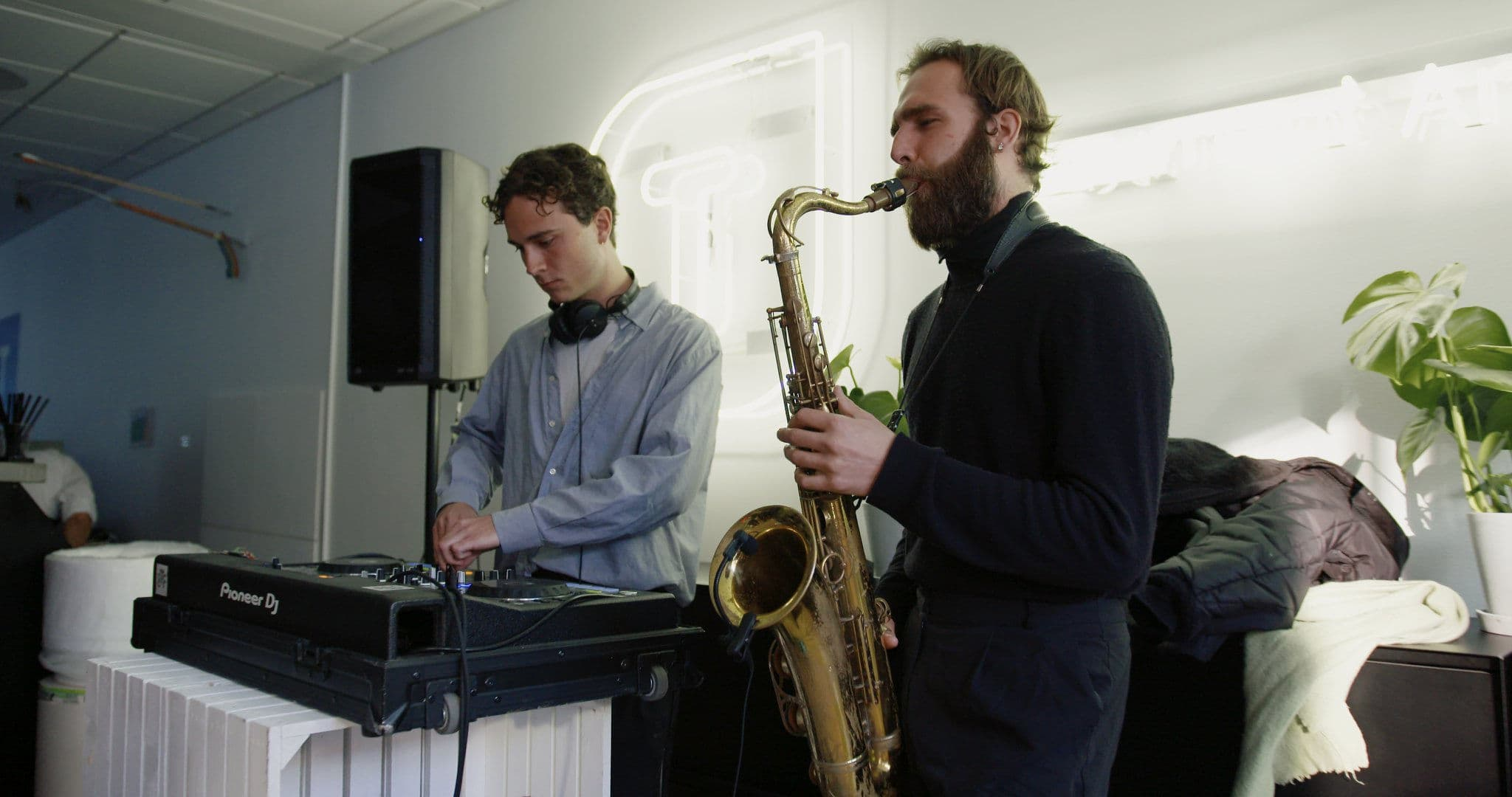 live music at Templafy Copenhagen office party