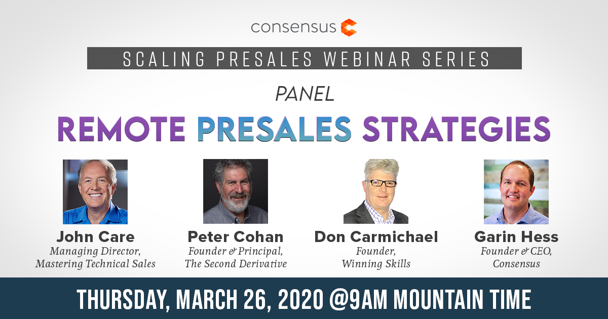 Panel: Remote Presales Strategies