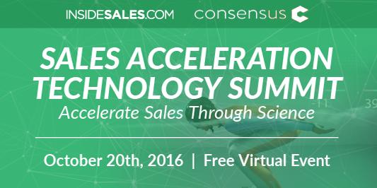 [Virtual Event] InsideSales' Sales Acceleration Tech Summit