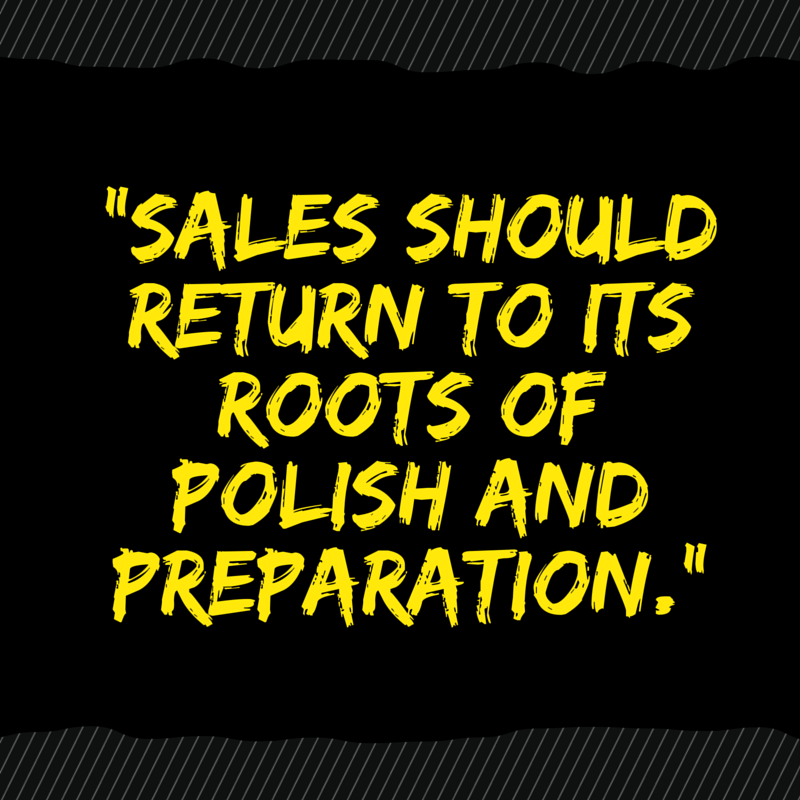 Sales Can Find a Competitive Advantage by Going Old-fashioned