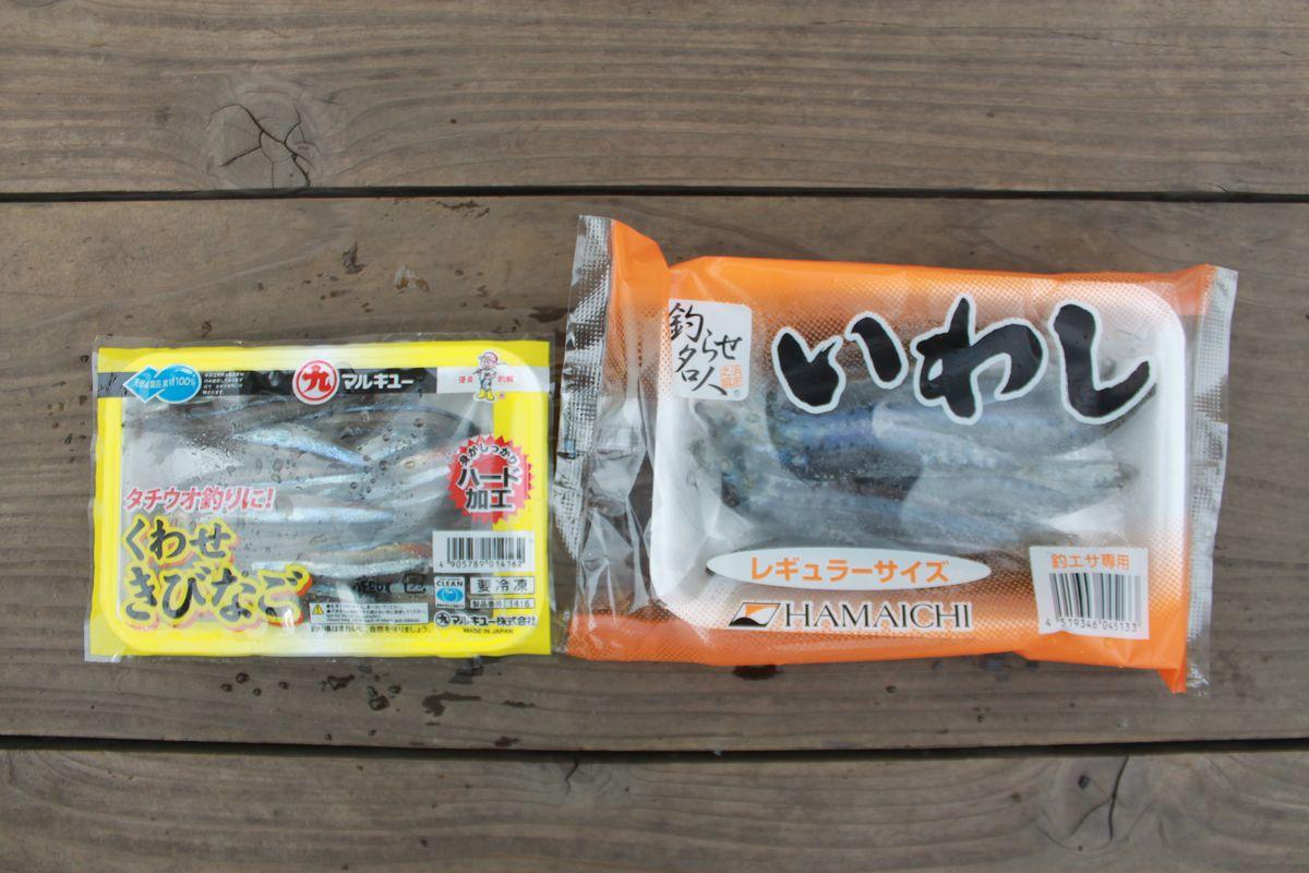 【海上釣り堀入門】釣りエサ:イワシ、キビナゴ