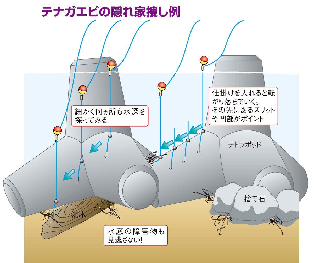 【テナガエビの釣り方】この穴で連続ヒット
