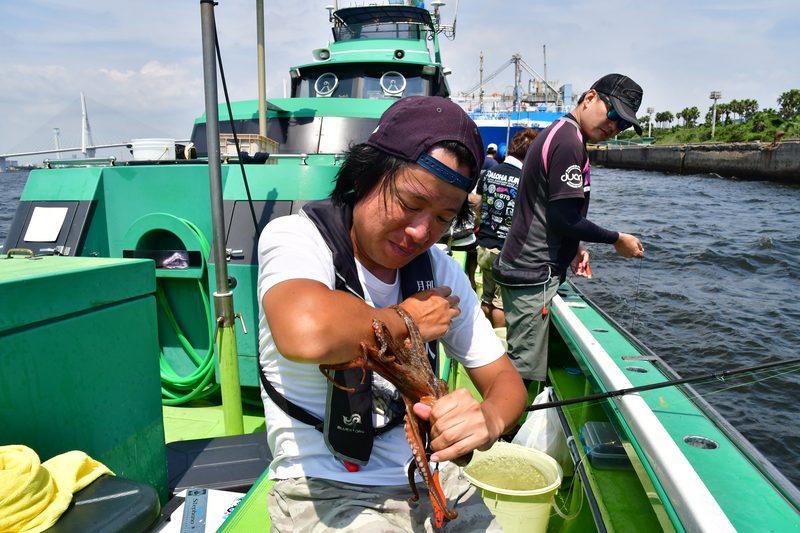 【東京湾の餌木タコ(エギタコ)入門】タコに吸われるのは気持ちいい