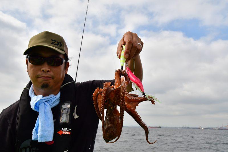 【東京湾の餌木タコ(エギタコ)入門】終始餌木2本体制で釣る砂川さん