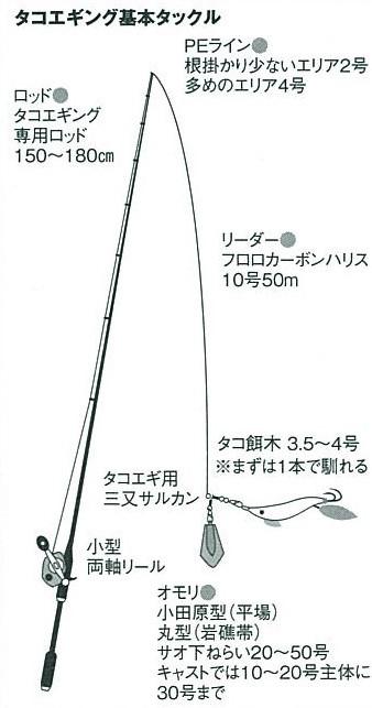 【東京湾の餌木タコ(エギタコ)入門】タコ釣りの仕掛け
