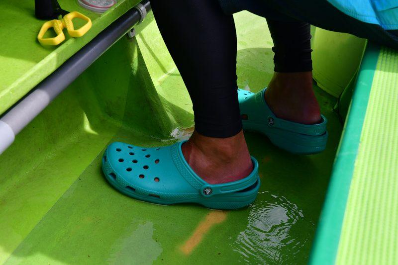 【東京湾の餌木タコ(エギタコ)入門】足もとは長靴やサンダル、クロックス