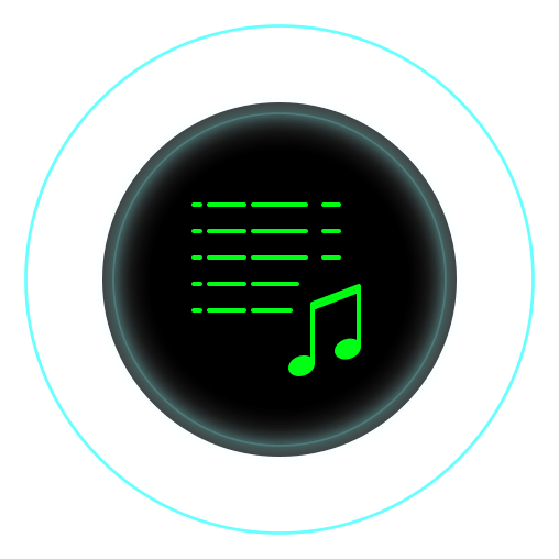 Icon of a list and a musical note