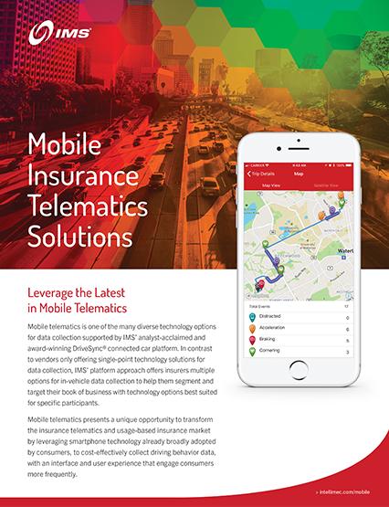 Mobile Telematics - Behavior-Based Auto Insurance Telematics
