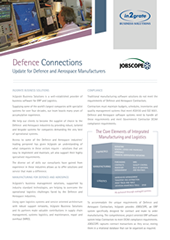 Defence Connections Update for Defence and Aerospace Manufacturers