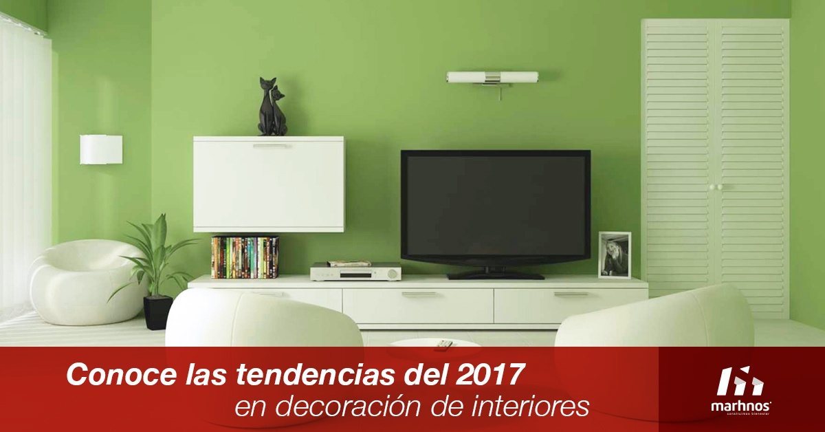 Conoce las tendencias del 2017 en decoraci n de interiores for Tendencias pintura paredes 2017