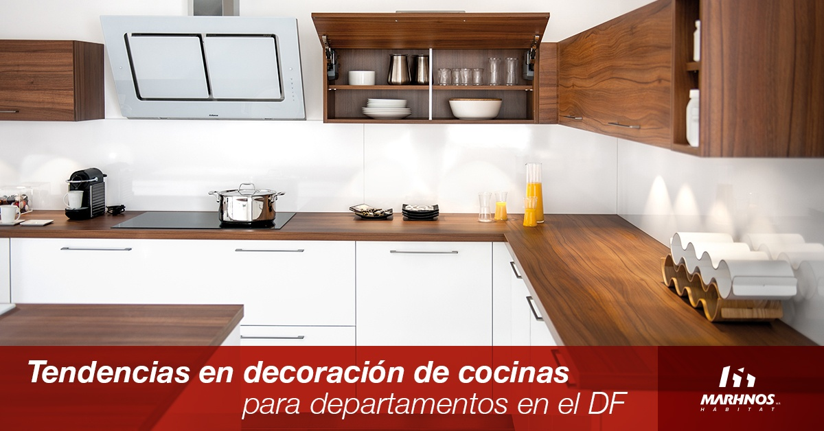 Tendencias en decoraci n de cocinas para departamentos en for Decoracion cocinas 2016