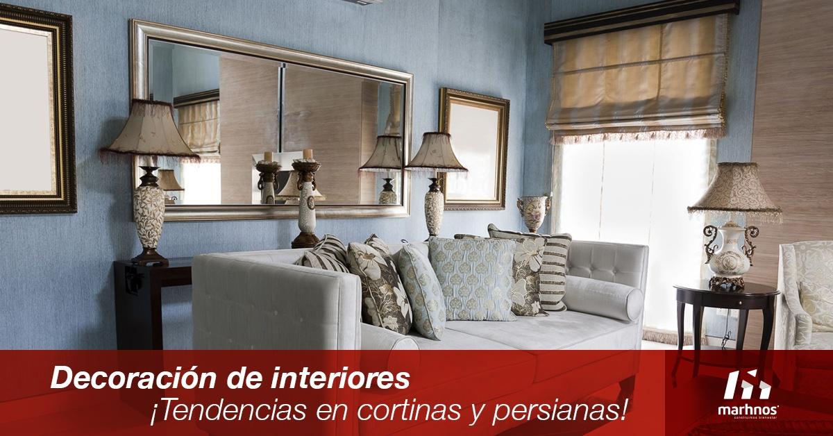 Decoraci n de interiores tendencias en cortinas y persianas for Persianas de interior