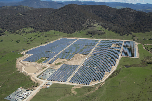 Image: 20 MW Royalla Solar Farm in ACT. A CCIONA Energy grid connected the biggest photovoltaic plant in Australia in 2014 as a contractor for Fotowatio Renewable Ventures (FRV).