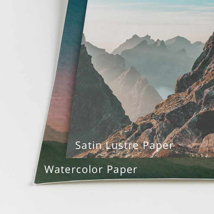 What Are the Paper Type and Frame Options Available? – CG