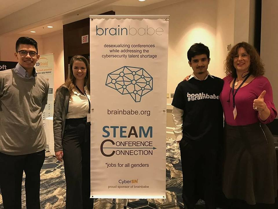 brainbabe table for STEAM conference