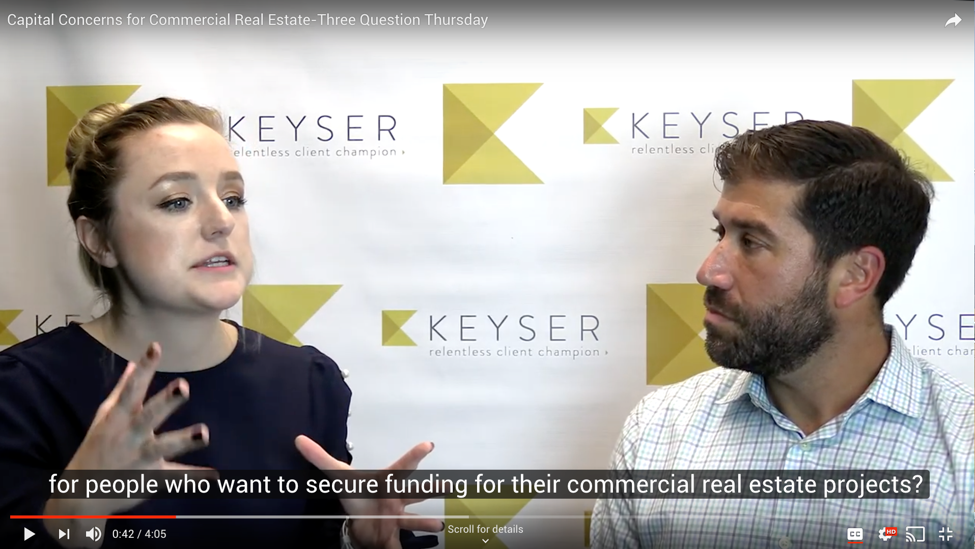 capital concerns in commercial real estate interview