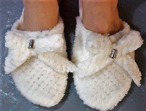 Girls Tan Suede Monkey Slippers Boot House Shoes with Faux Fur Sherpa