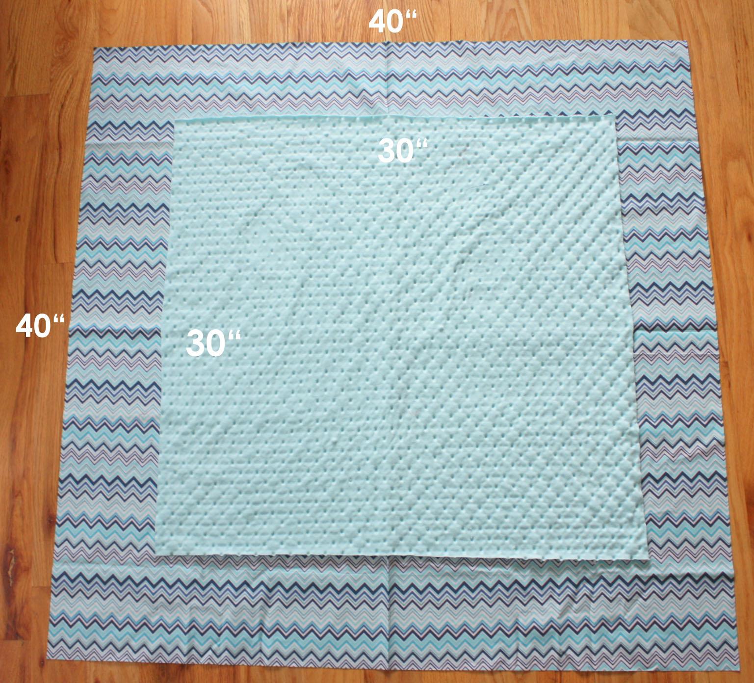 Baby Minky Blanket Stroller  Size 29 x 36 in Baby Boy Blanket Modern Minky Blanket Minky Baby Bedding Teal Minky Blanket Car Seat