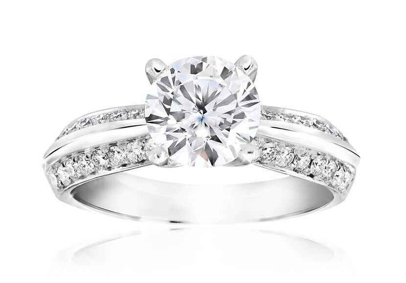 Together Forever Engagement Ring White Gold