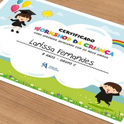 exemplo de certificado de participação do aluno no evento do dia do amigo