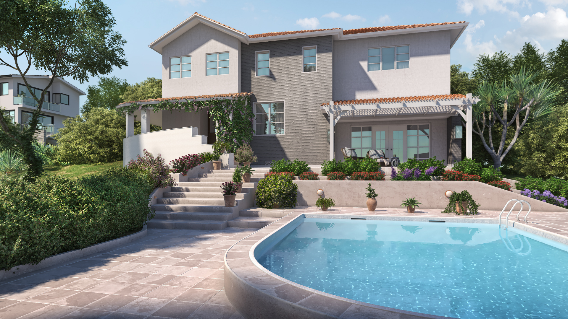 Premium 3D Exterior Rendering Services for Residential Real Estate - House Rendering