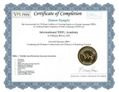 international tefl academy certificate