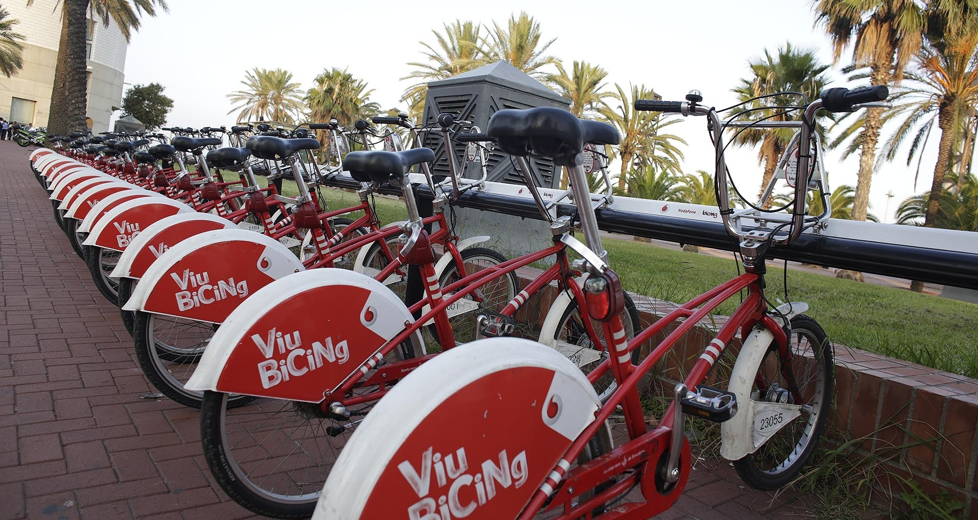 Barcelona has a shared biking system provided by Vodaphone