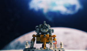 Moon landing by lego astronauts