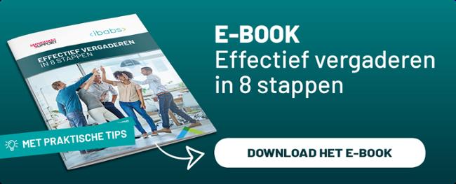 Effectief vergaderen in 8 stappen – EBook