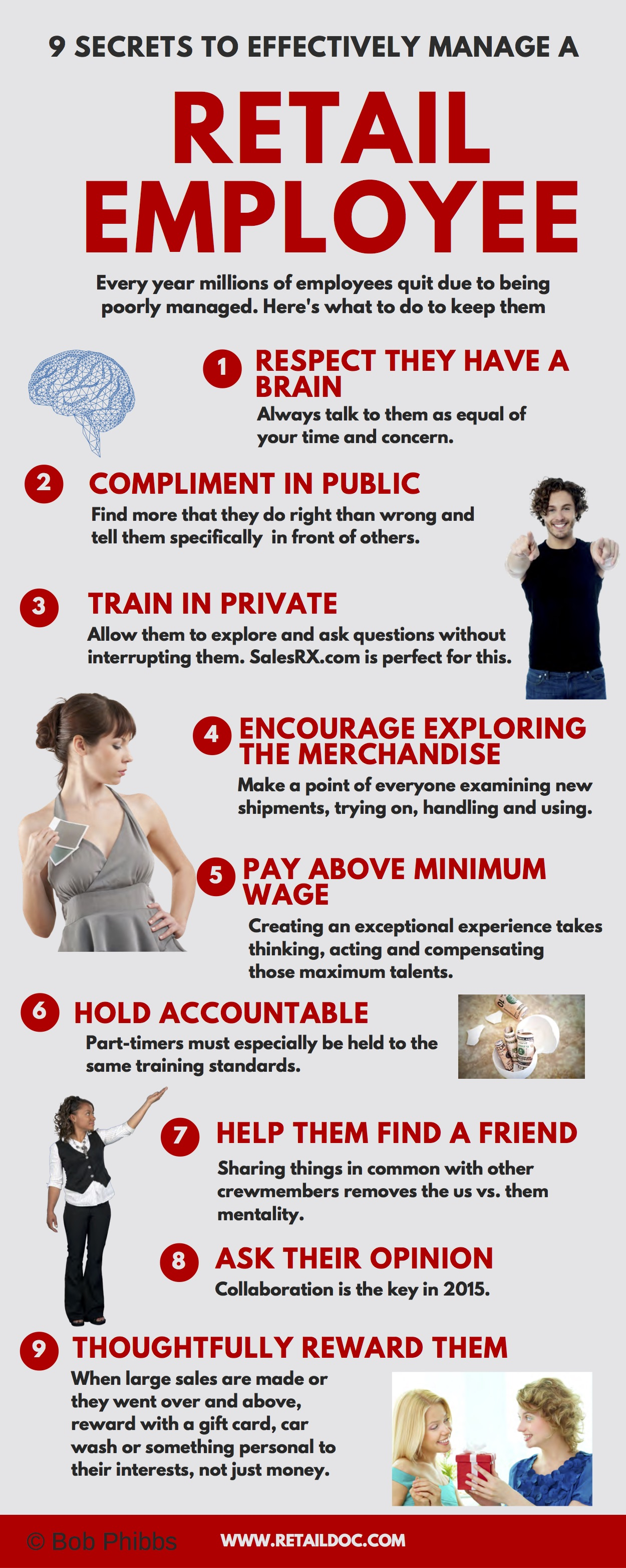 How To Manage Retail Employees Infographic