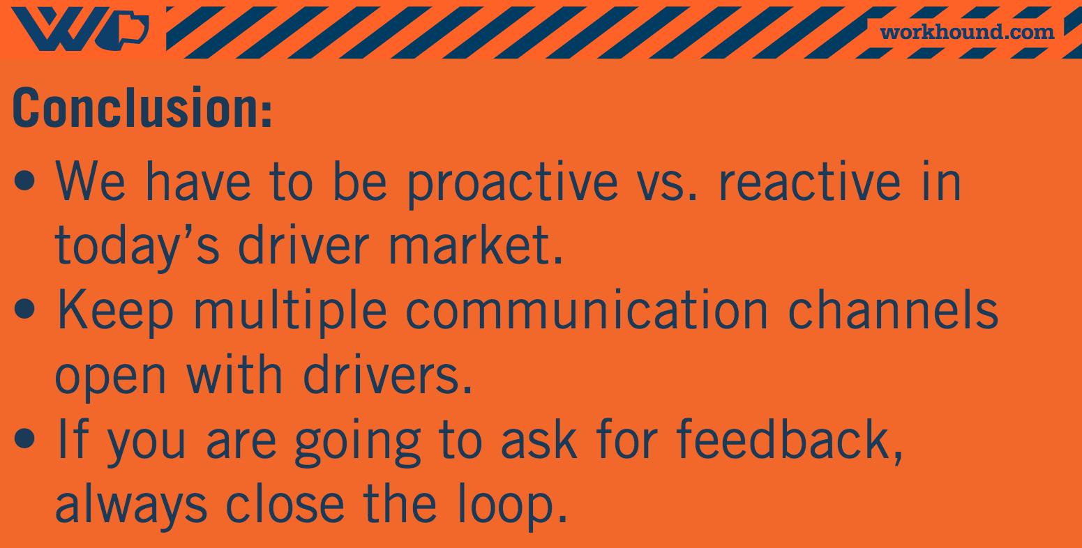 truck driver feedback