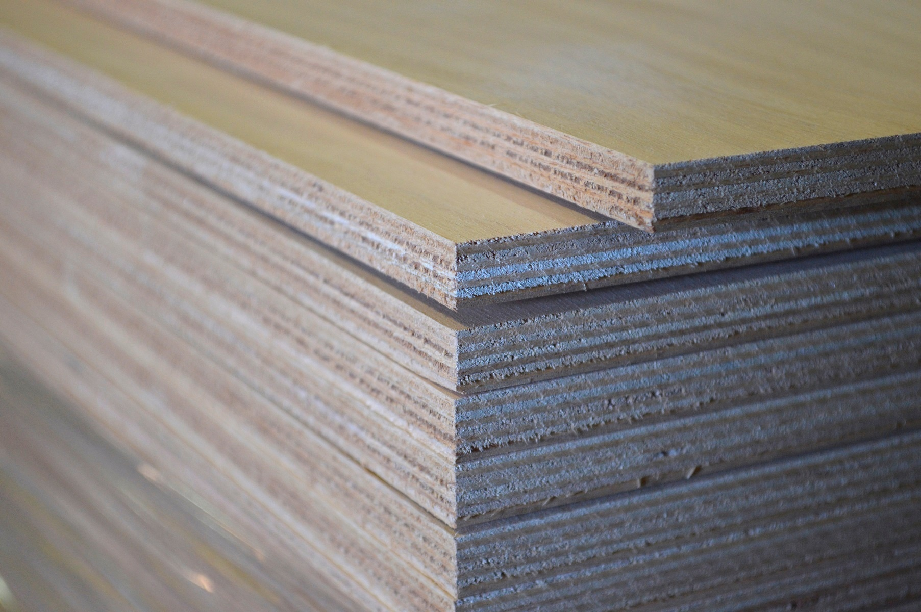 marine grade plywood stack close up