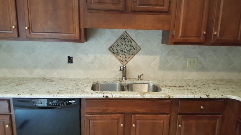 6x6 Tile Backsplash With Granite