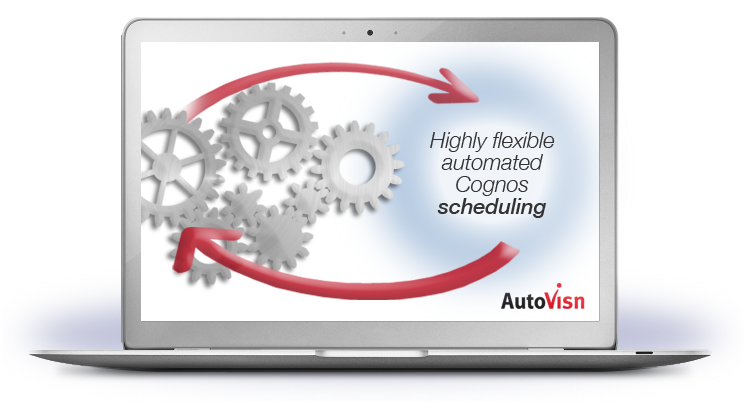 cognos scheduling with autovisn