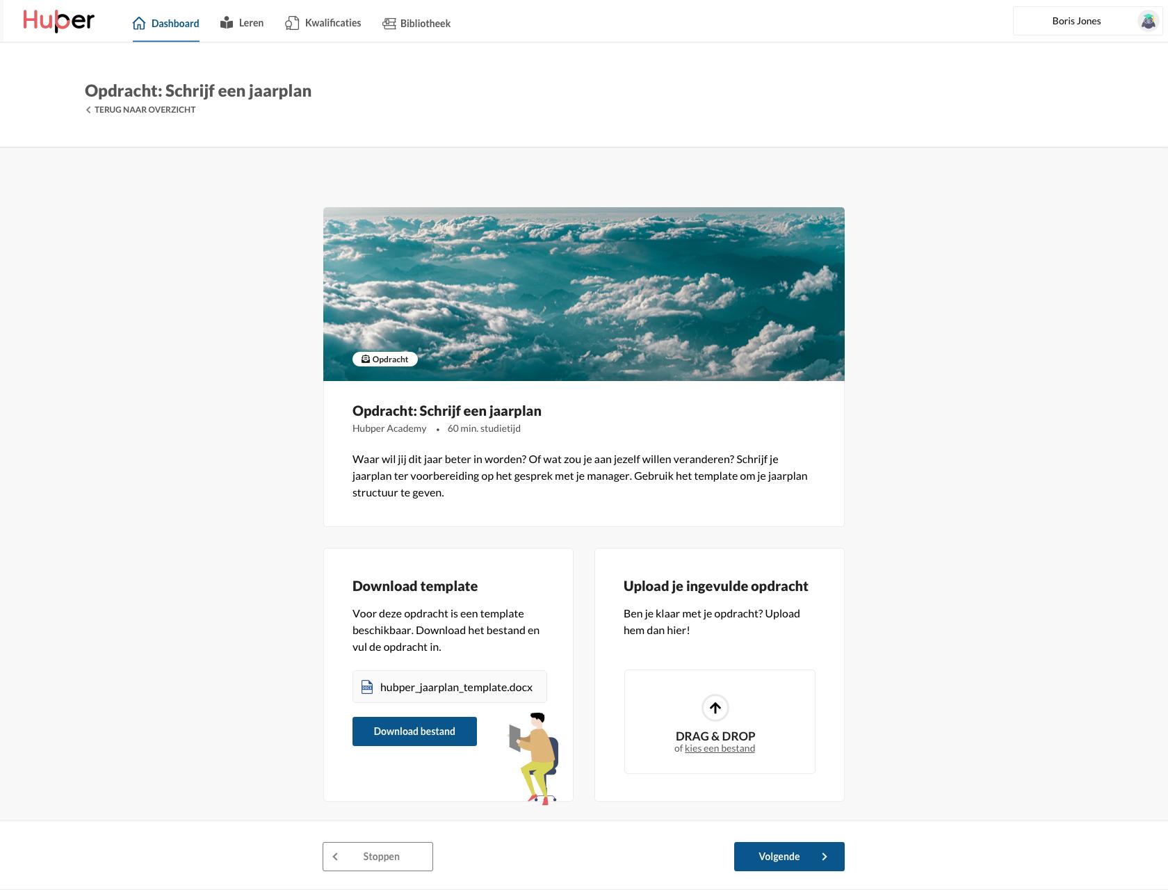 Inleveropdrachten Hubper online leerplatfrom