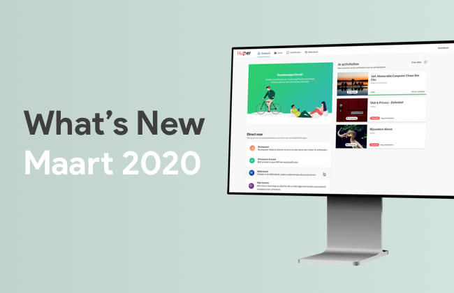 What's New: Maart 2020