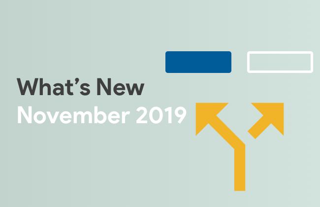 What's New: November 2019