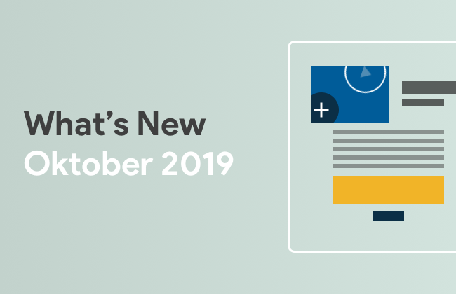What's New: Oktober 2019