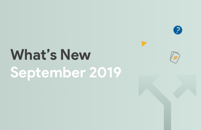 What's New: September 2019