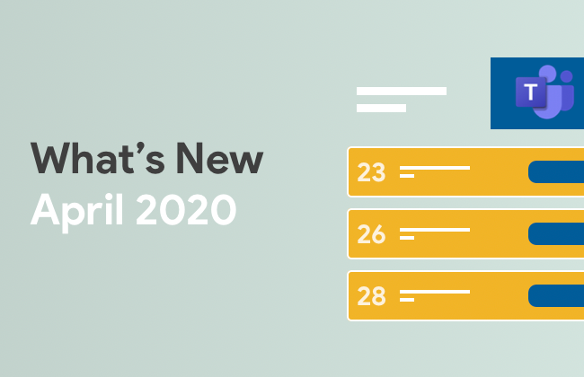 What's New: April 2020