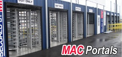 turnstiles, turnstile, MAC Portal, Modular Access Control, Modular Security Systems Inc., turnstile security, turnstiles in a container