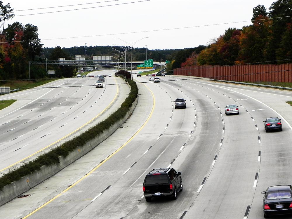 I-85 NC large traffic pile-up incident