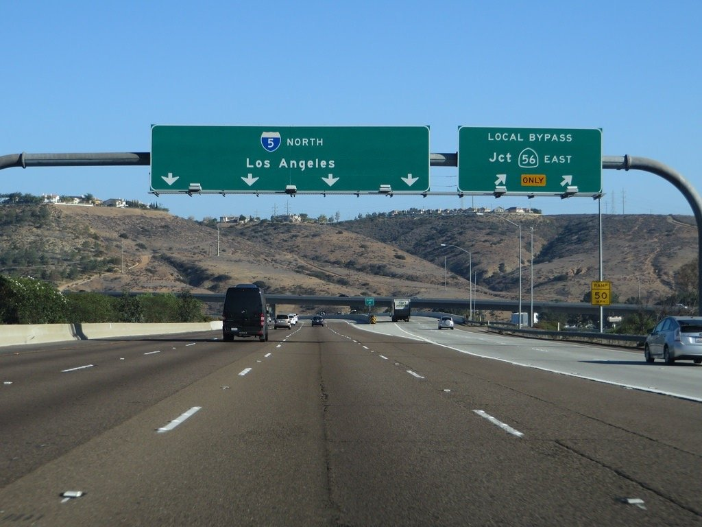 Interstate 5 California - Major Traffic Incidents