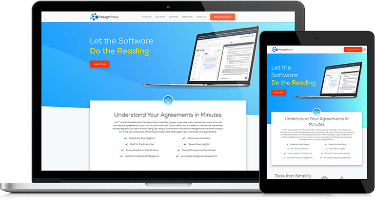 Custom Features Turn ThoughtTrace's Website Into A Sleek, Educational Hub