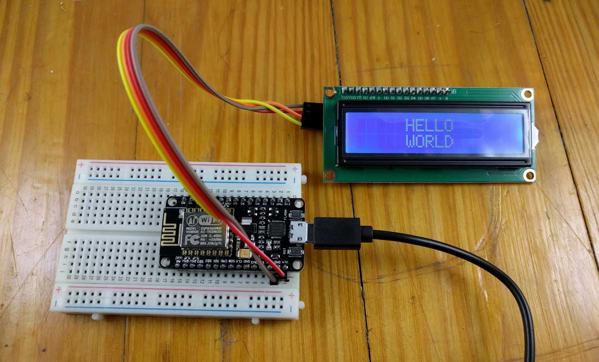How To Connect An Lcd Display Esp8266 Nodemcu Single Node Wiring Diagram Brandon Cannaday 2 Minute Read