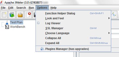 JMeter Plugins Manager