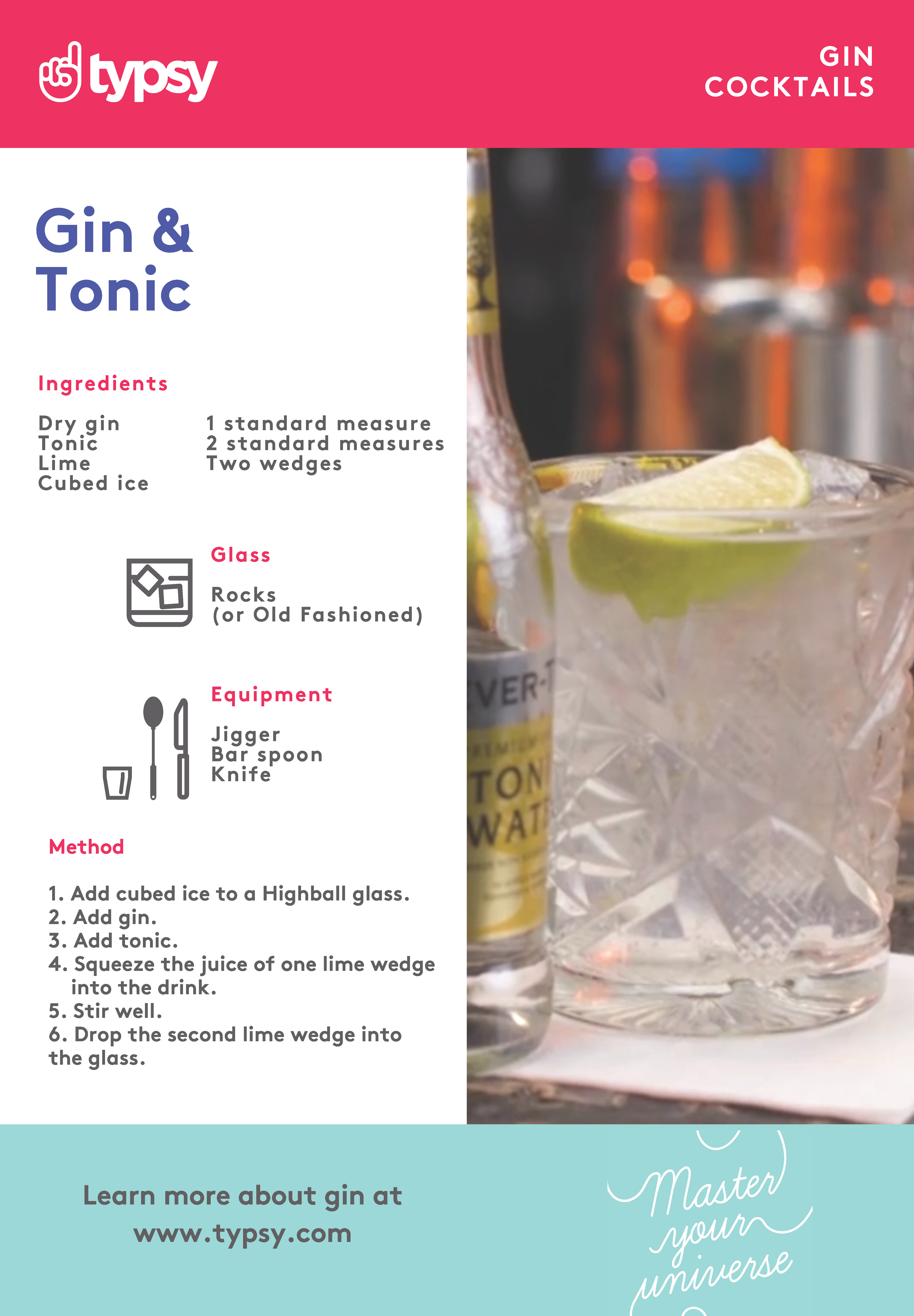 gin and tonic proportions