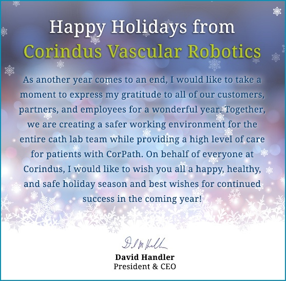 Happy Holidays from Corindus Vascular Robotics