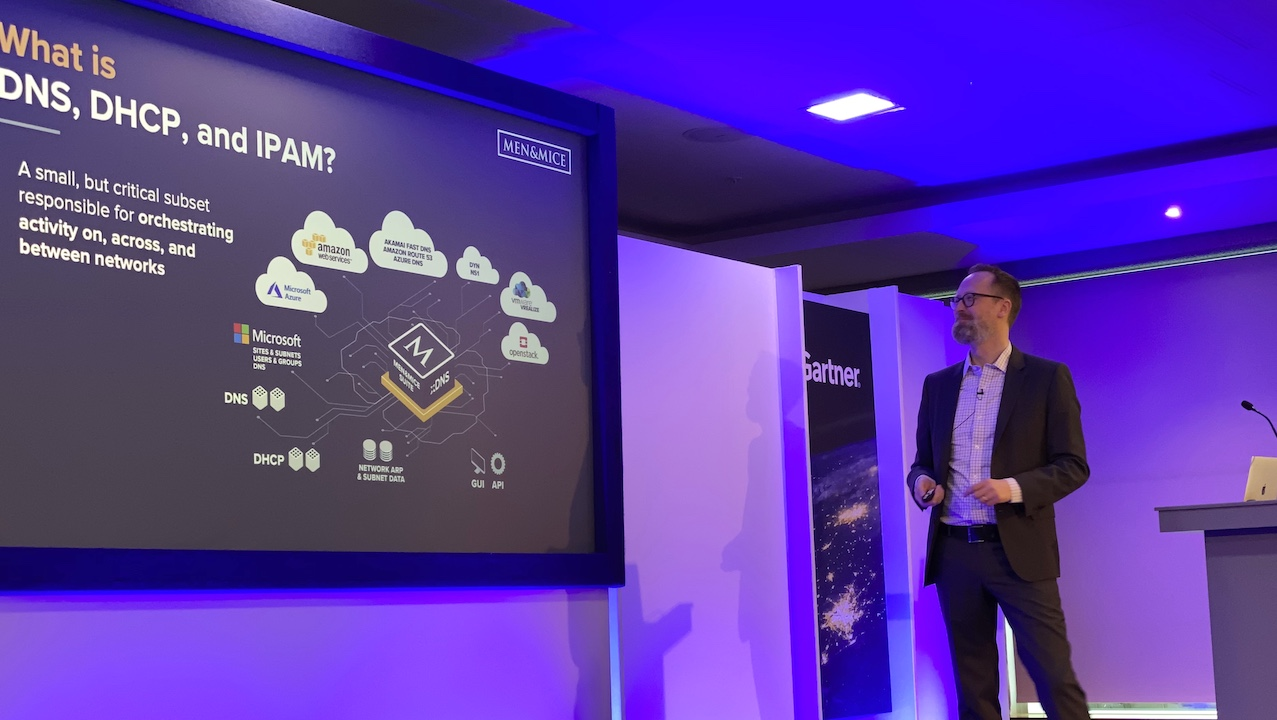 Men&Mice CEO Magnús Björnsson at Gartner IOCS 2019 in London